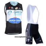 2019 Gilet Antivento Quick Step Floors Nero Bianco